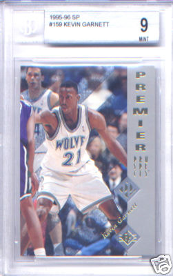 1995-96 (1996) Upper Deck Sp Kevin Garnett Rookie Card (Graded Beckett BGS Mint 9)