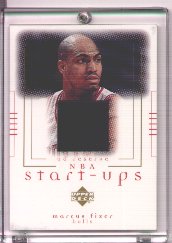 Marcus Fizer, 2000-2001 UD Reserve NBA Start-Ups #MF, game worn jersey, mint, $20.00