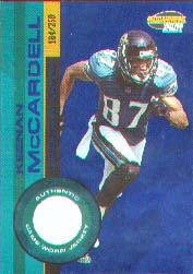 2001 Pacific Invincible Blue #105, Keenan McCardell /250 JSY