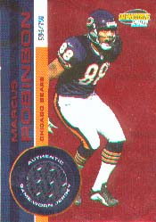 2001 Pacific Invincible Red #44, Marcus Robinson /750 JSY