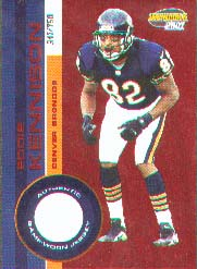 2001 Pacific Invincible Red #75, Eddie Kennison /750 JSY