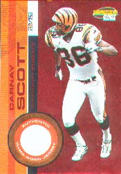 2001 Pacific Invincible Red #51, Darnay Scott /750 JSY