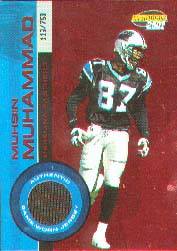 2001 Pacific Invincible Red #37, Mushin Muhammad /750 JSY