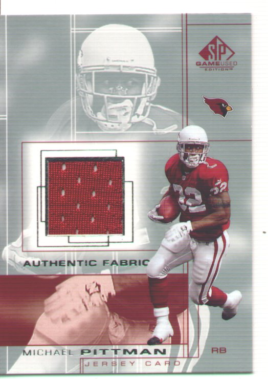 Michael Pittman, 2001 SP Game Used Edition Authentic Fabric #MP, mint, $10.00