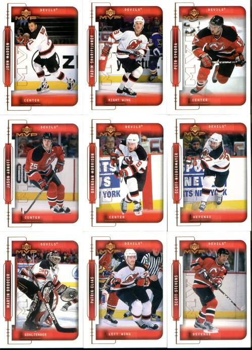 New Jersey Devils 1999-00 Upper Deck MVP Team Set