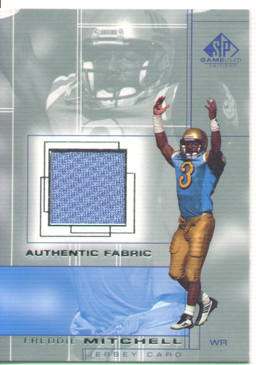Freddie Mitchell , 2001 SP Game Used Edition Authentic Fabric #FM, mint, $30.00