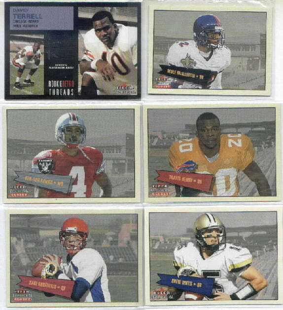 2001 Fleer Glossy Rookie Stickers #402 Drew Brees Parallel RC Serial #550/699