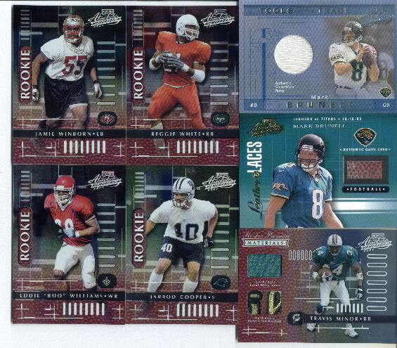 2001 Playoff Absolute Memorabilia Tools of the Trade #TT46 Mark Brunell Game-Worn Pants Card Serial #025/100