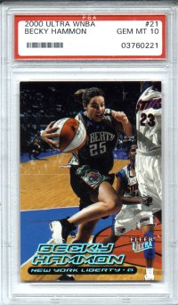 2000 Fleer Ultra WNBA #21 Becky Hammon PSA Gem Mint 10 Rookie New York Liberty AWESOME!!!