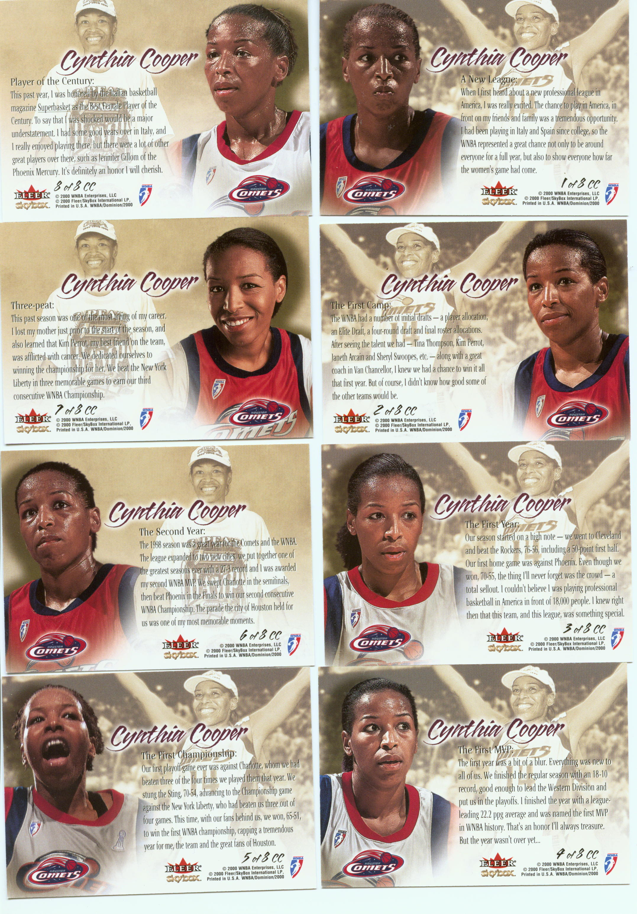 2000 WNBA Cynthia Cooper Collection Dominion