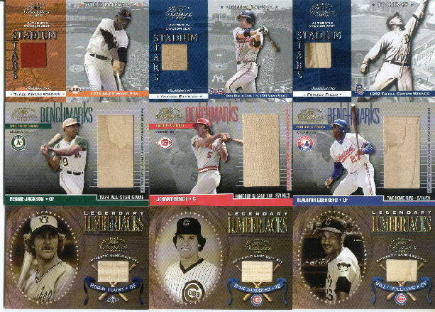 2001 Donruss Classics Stadium Stars #SS15 Chipper Jones Game-Used Stadium Seat Card