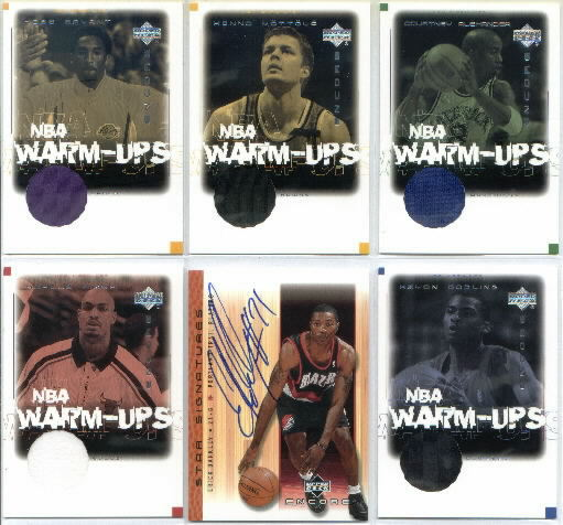 2000-01 Upper Deck Encore NBA Warm-Ups #KB-W Kobe Bryant Game-Used Warm-Ups Jersey Card