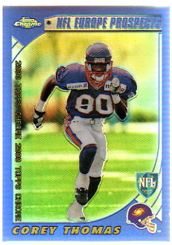 2000 Topps Chrome Refractors #213 Corey Thomas Europe Prospect