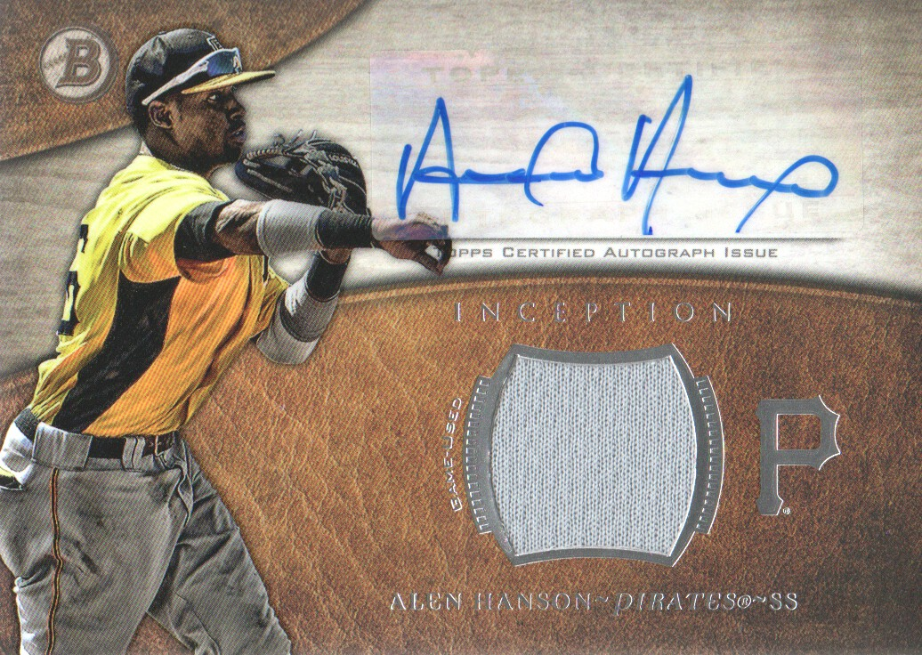 2014 Bowman Inception Relic Autographs #ARAH Alen Hanson