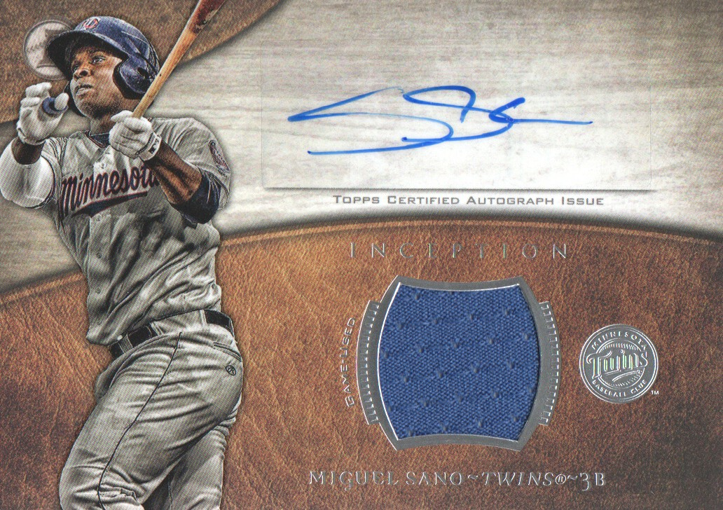 2014 Bowman Inception Relic Autographs #ARMSA Miguel Sano