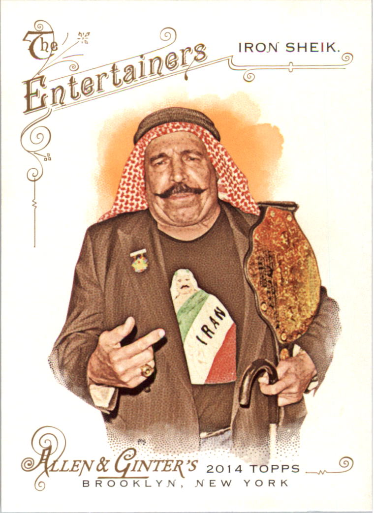 2014 Topps Allen and Ginter #153 The Iron Sheik