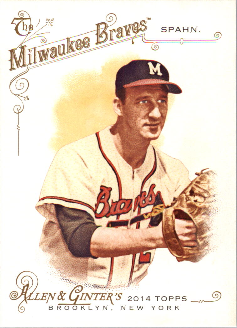 2014 Topps Allen and Ginter #242 Warren Spahn