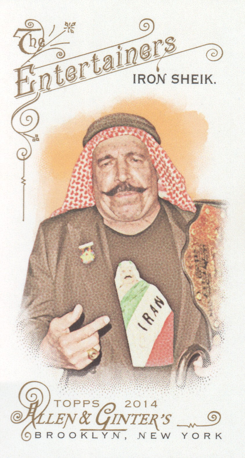 2014 Topps Allen and Ginter Mini #153 The Iron Sheik