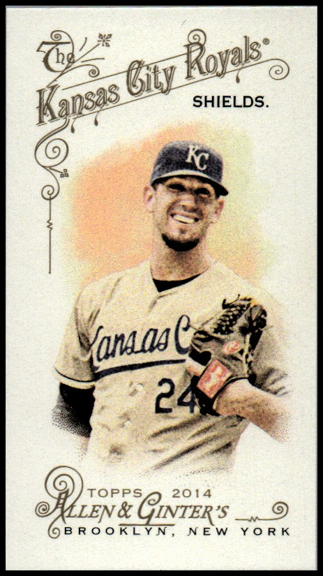 2014 Topps Allen and Ginter Mini #237 James Shields