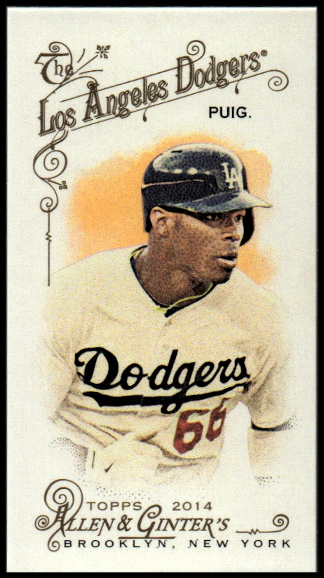 2014 Topps Allen and Ginter Mini #345 Yasiel Puig