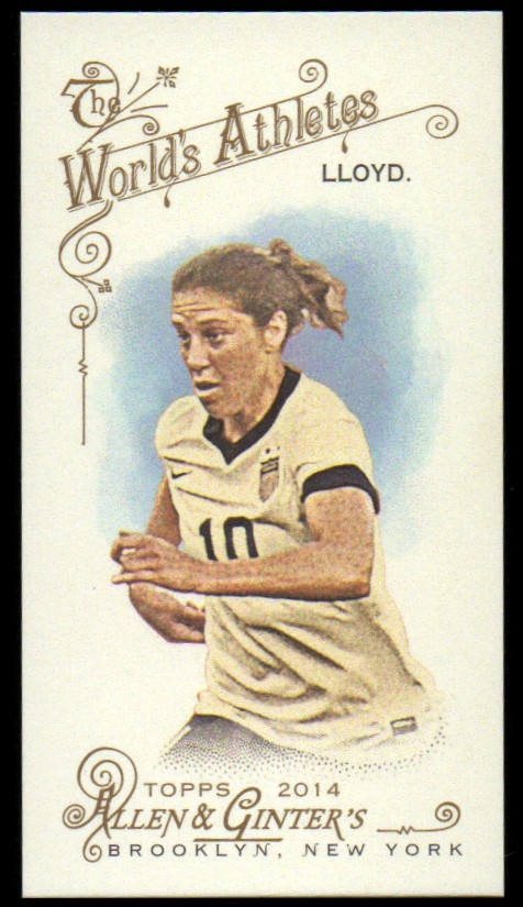 2014 Topps Allen and Ginter Mini A and G Back #214 Carli Lloyd