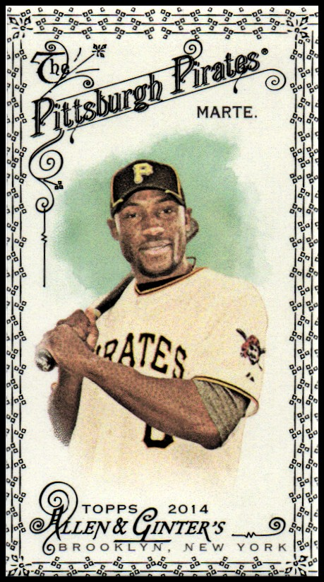 2014 Topps Allen and Ginter Mini Black #182 Starling Marte