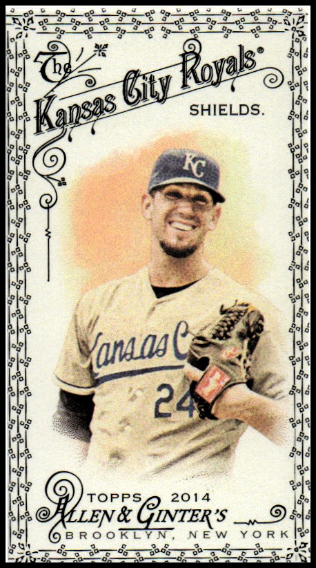 2014 Topps Allen and Ginter Mini Black #237 James Shields