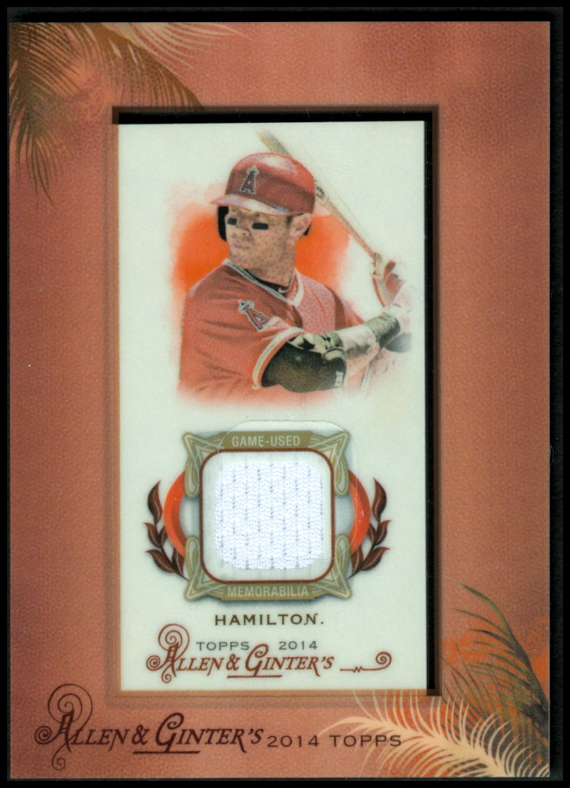 2014 Topps Allen and Ginter Mini Framed Relics #RAJH Josh Hamilton A