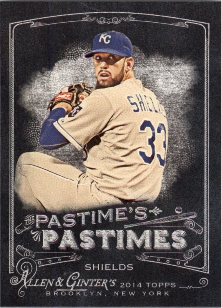 2014 Topps Allen and Ginter The Pastime's Pastime #PPJS James Shields