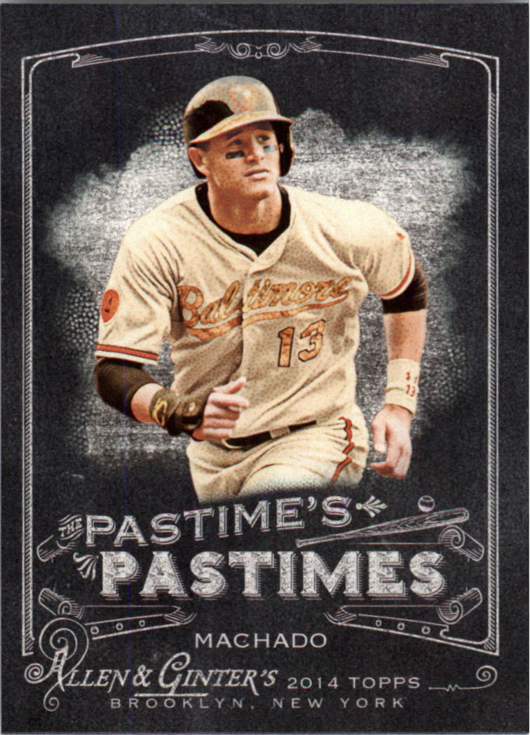 2014 Topps Allen and Ginter The Pastime's Pastime #PPMM Manny Machado