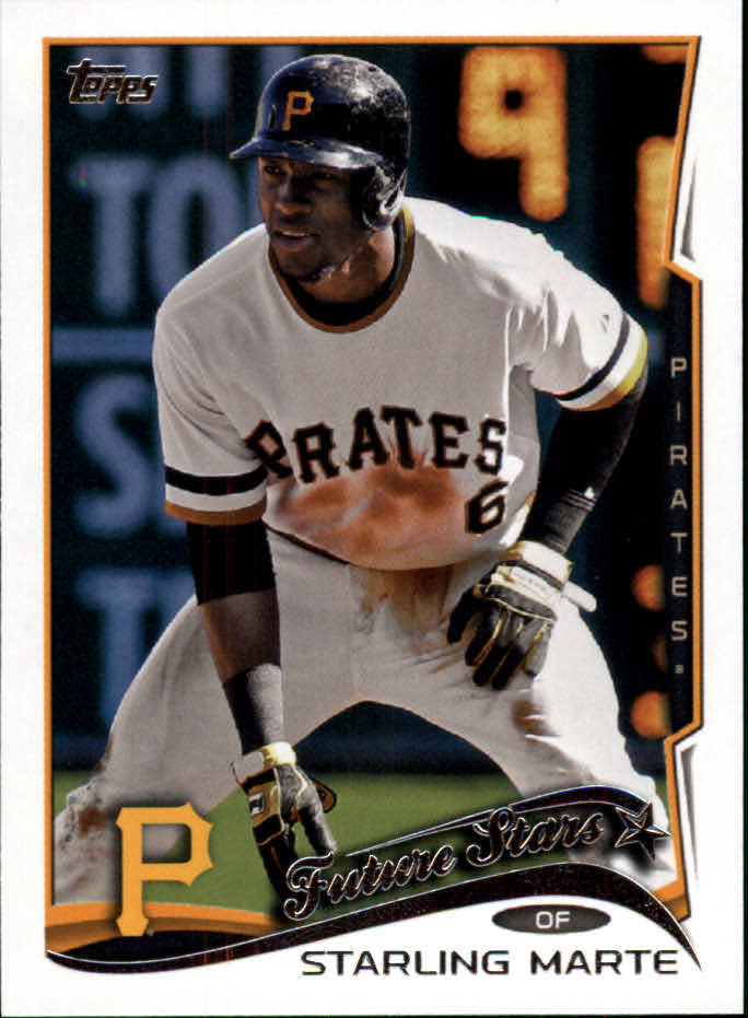 2014 Topps Mini #91 Starling Marte FS