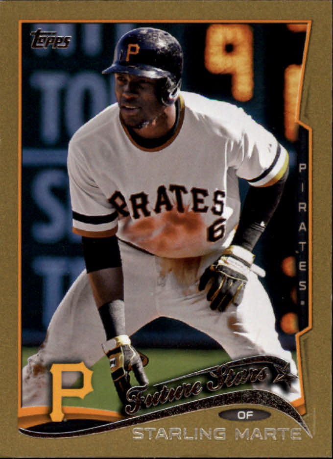 2014 Topps Mini Gold #91 Starling Marte FS