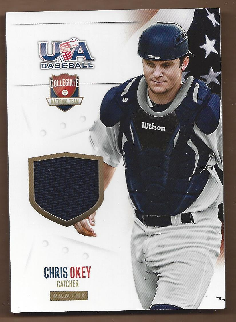 2014 USA Baseball Collegiate National Team Jerseys #6 Chris Okey