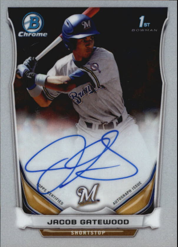 2014 Bowman Chrome Draft Draft Pick Autographs #BCAJG Jacob Gatewood