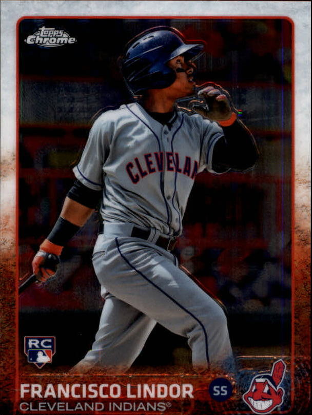 2015 Topps Chrome #202 Francisco Lindor SP RC