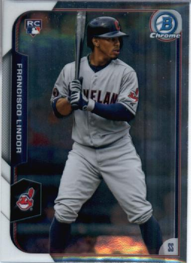 2015 Bowman Chrome #89 Francisco Lindor RC