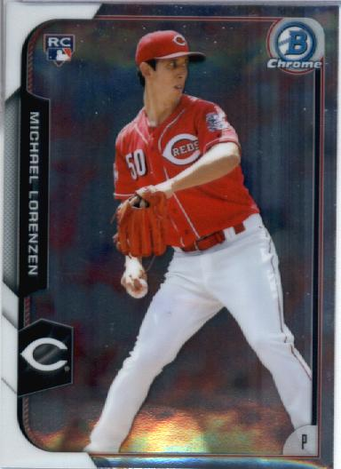 2015 Bowman Chrome #164 Michael Lorenzen RC