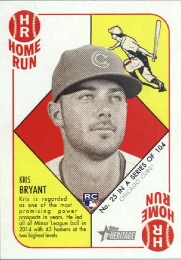 2015 Topps Heritage '51 Collection #25 Kris Bryant RC