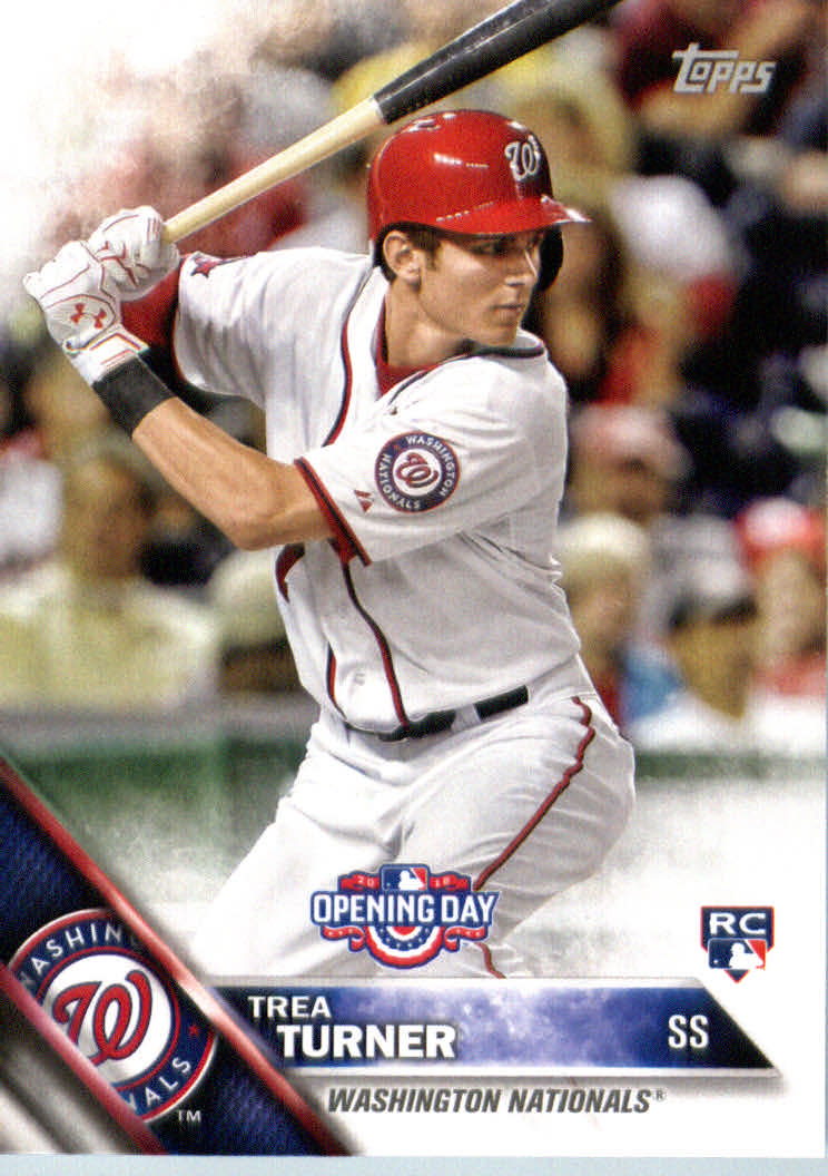 2016 Topps Opening Day #OD154 Trea Turner RC