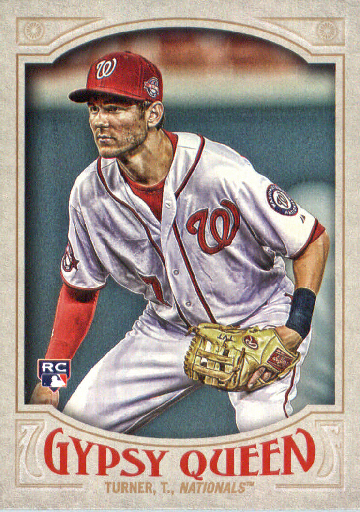 2016 Topps Gypsy Queen #64A Trea Turner RC/No ball