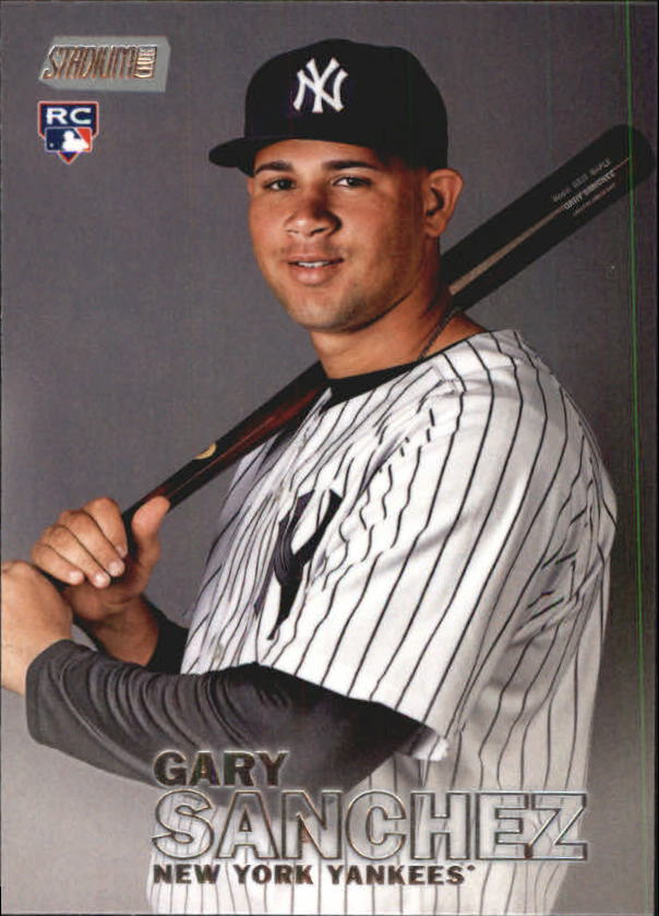 2016 Stadium Club #1 Gary Sanchez RC
