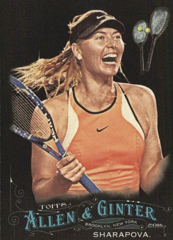 2016 Topps Allen and Ginter X #212 Maria Sharapova