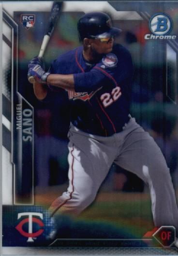 2016 Bowman Chrome #27 Miguel Sano RC
