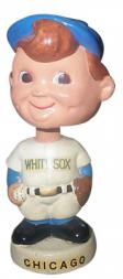 1961-62 Bobbin Heads Baseball Round Base White Miniature #6 Chicage White Sox