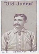 1886 Giants Old Judge N167 #7 Joe Gerhardt