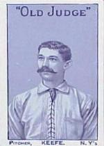 1886 Giants Old Judge N167 #9 Tim Keefe