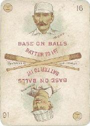 1889 Edgerton R. Williams Game #16 Al Myers/Cub Stricker