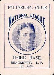 1904 Allegheny Card Company #7 Ginger Beaumont