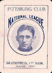 1904 Allegheny Card Company #11 Kitty Bransfield