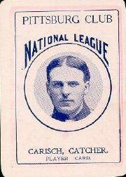 1904 Allegheny Card Company #17 Fred Carisch